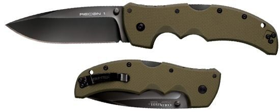 Нож Cold Steel модель 27TLSVG Recon 1 Spear Point OD Green